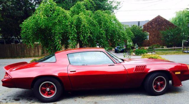 1979 Chevrolet Camaro Dark Red On Black Interior For Sale