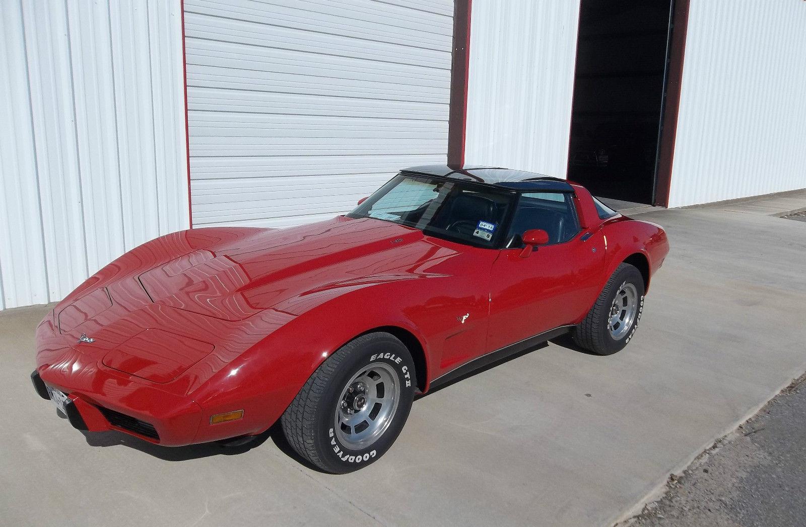 1979 Chevrolet Corvette L82 Red with Black interior T