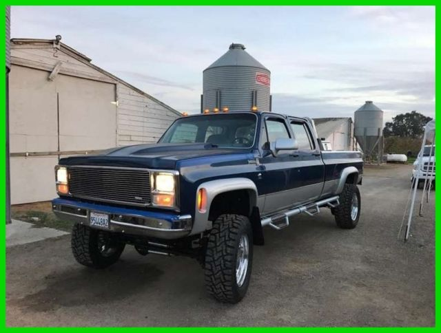 Elk Grove Chevrolet >> 1979 Chevrolet K-30 Crew Cab 4X4 1995 Cummins Conversion Twin Turbo Diesel CA