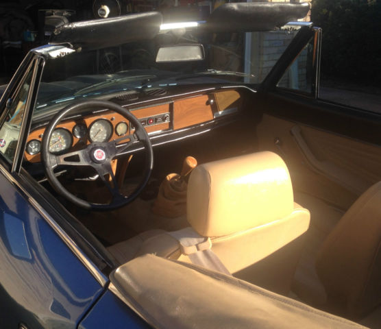 1979 fiat spider 2000 pininfarina ice blue w orig tan interior for sale in dallas texas. Black Bedroom Furniture Sets. Home Design Ideas