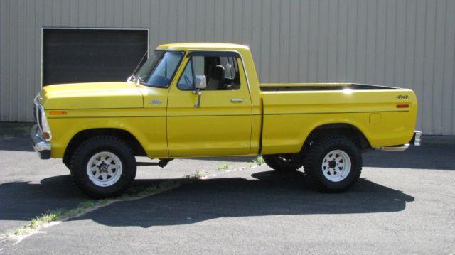 1979 Ford F150 Custom 90 500 Miles Yellow Pickup 351 M