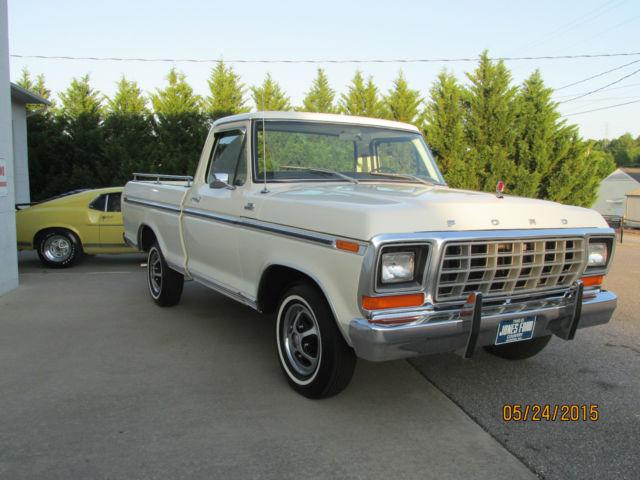 1979 ford ranger f100 xlt white beige 2 895 actual miles for sale in wilkesboro north carolina. Black Bedroom Furniture Sets. Home Design Ideas