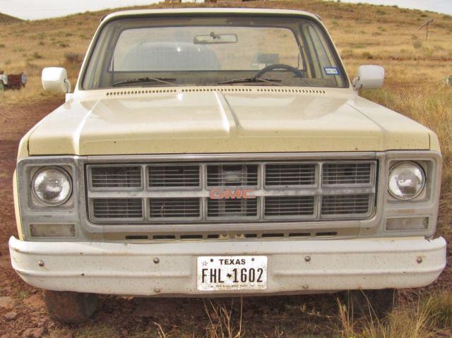 1979 Gmc Sierra 15 2wd Short Bed Manual Trans