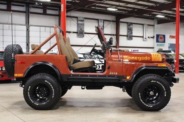 1979 Jeep Cj 7 Renegade 60177 Miles Russet Orange Jeep