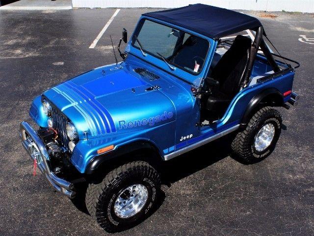 Jeep Renegade Lifted >> 1979 Jeep CJ5 Renegade 1 Miles Blue V8 Mamual