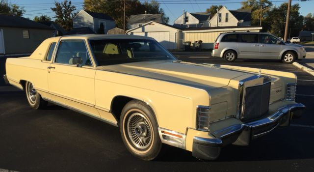 1979 Lincoln Continental 2 Door Town Coupe 22k Miles No Rust All
