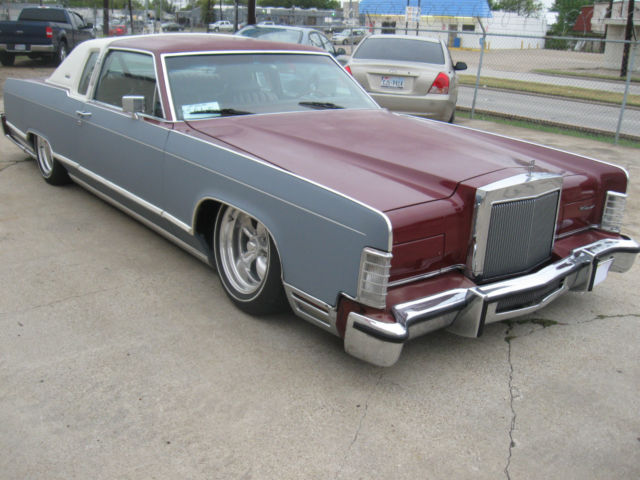 1979 lincoln town coupe rat rod hot rod slammed bagged low rider for sale in dallas texas. Black Bedroom Furniture Sets. Home Design Ideas