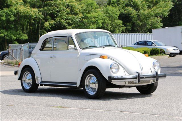 1979 Volkswagen Vw Super Beetle Karmann Triple White