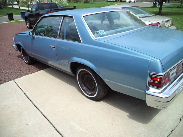 1980 Chevrolet Malibu Classic Sport Coupe 2 Door 4 4l For