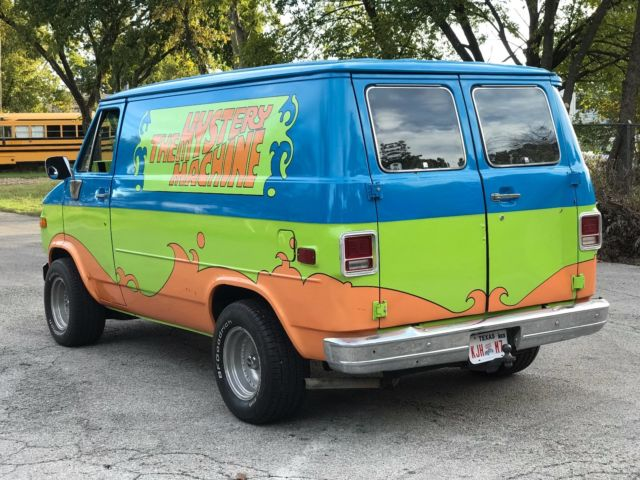 1980 chevy shorty g15 van scooby doo mystery machine. Black Bedroom Furniture Sets. Home Design Ideas