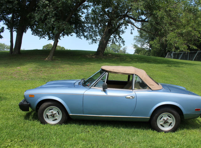 1980 Fiat Spider 2000 Convertible W Both Soft Amp Hard Top