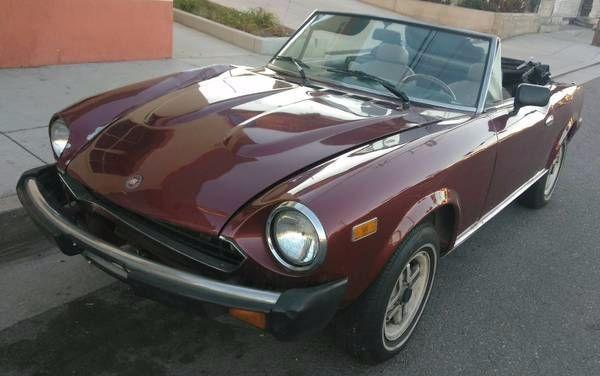 1980 Fiat Spider 2000 Restoration Or Parts For Sale
