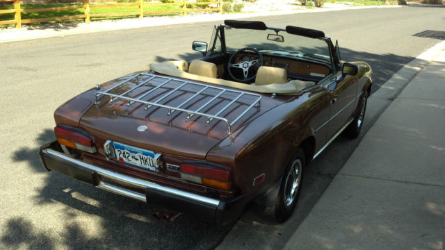 1980 fiat spider 2000 this is a nice car with 79 000 actual miles for sale in longmont. Black Bedroom Furniture Sets. Home Design Ideas