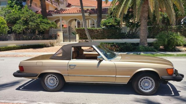 1980 mercedes benz 450 sl floirda car new top tires tune for Mercedes benz tune up cost