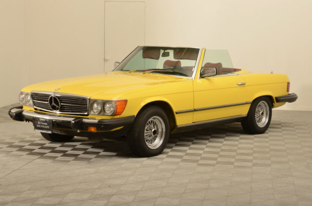 1980 mercedes benz 450sl convertible w hard top for sale for Mercedes benz sl500 convertible top parts