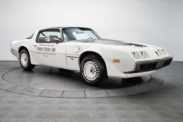 1980 Pontiac Firebird Trans Am Pace Car 270 Miles Cameo White Coupe 4 9 Liter T