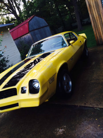 1981 Chevrolet Camaro Bumblebee Yellow And Black Project Car For Sale In Louisville Mississippi
