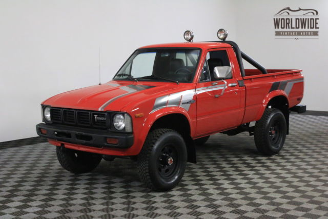 1981 Red Hilux Restored Rare Short Bed Ac For Sale