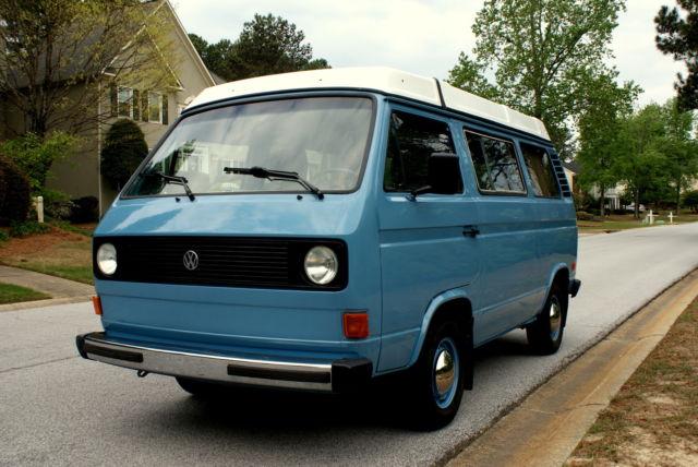 1981 Volkswagen Vanagon Campmobile Van Camper 3-Door 2.0L ...