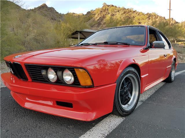1982 bmw 635csi 98k red 3 5l v6 euro car body kit