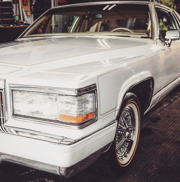 1982 Cadillac Coupe Deville Pearl White, Moon Roof, Low
