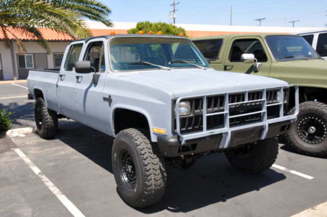 1982 Chevrolet K30 Crew Cab 462ci 4x4 A C Diesel For
