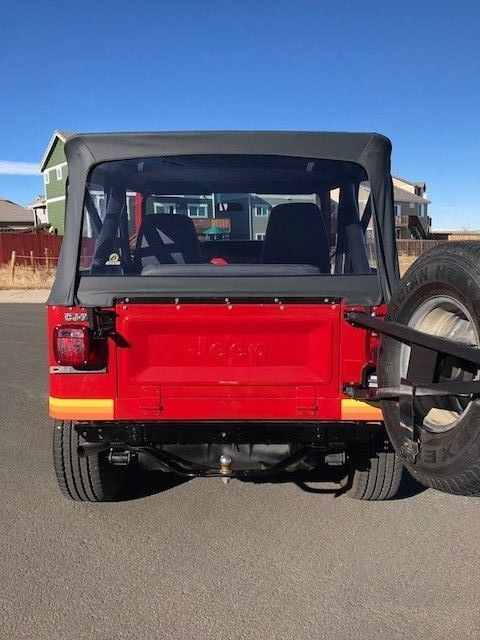 1982 CJ-7 RENEGADE ONLY 70K WITH RARE ORIENTAL RED PAINT CODE