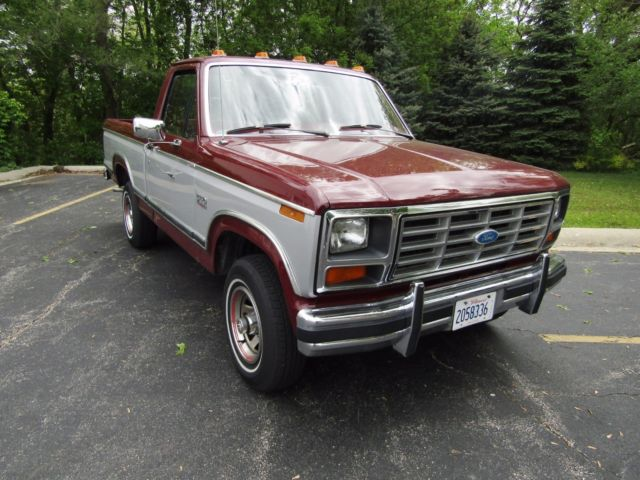 1982 ford f150 lariat 4x4 short box bed truck. Black Bedroom Furniture Sets. Home Design Ideas