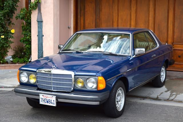 1982 Mercedes 300CD turbo diesel coupe gorgeous blue/beige