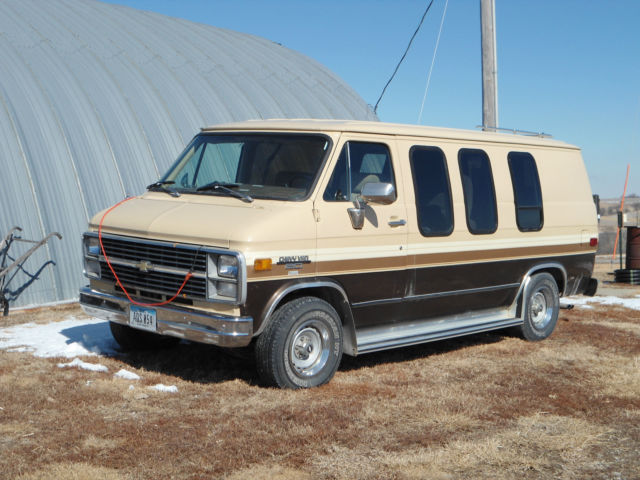 1983 chevy diesel conversion van for sale in red oak iowa united states. Black Bedroom Furniture Sets. Home Design Ideas
