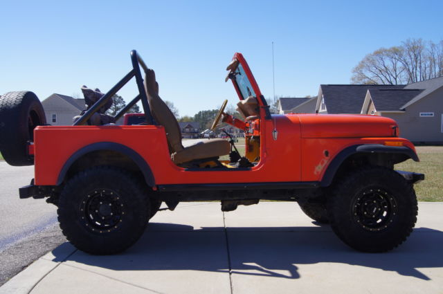 Jeep Cj Orange Fiberglass Tub Wheel Drive
