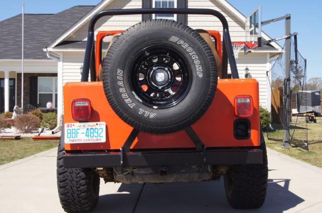 1983 jeep cj7 orange fiberglass tub 4 wheel drive for sale in raeford north carolina united states. Black Bedroom Furniture Sets. Home Design Ideas