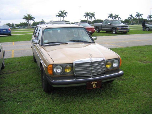 1983 mercedes benz 300td turbodiesel station wagon gold for 1983 mercedes benz 300td