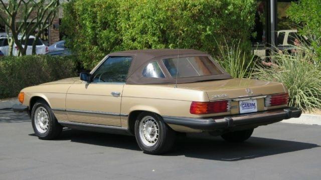 1983 mercedes benz 380sl convertible 2dr convertible 380sl for Gold mercedes benz price