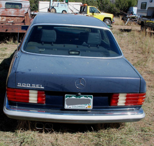 1983 MERCEDES BENZ 500 SEL EURO GREY MARKET PROJECT CAR