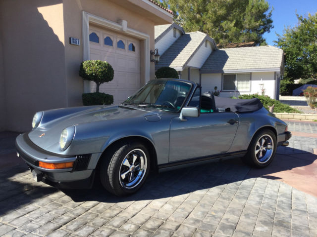 1983 porsche 911 sc cabriolet slate blue metallic 3 0 l beautiful convertible for sale in. Black Bedroom Furniture Sets. Home Design Ideas