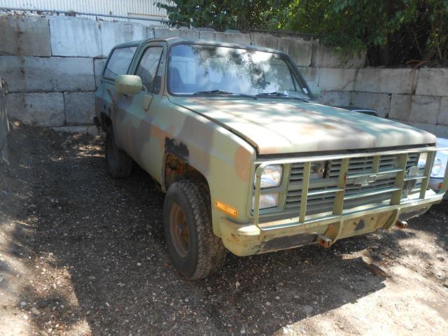 1984 Chevrolet Blazer M1009 CUCV Military Utility Vehicle