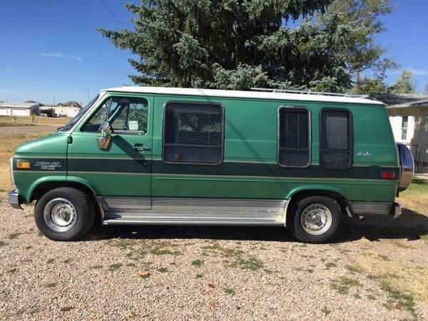 1984 chevy chevrolet van g20 great for conversion for sale. Black Bedroom Furniture Sets. Home Design Ideas