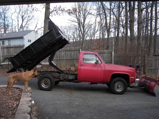 1984 Chevy K30 Mason Dump W Plow Dana 60 14bolt Th400