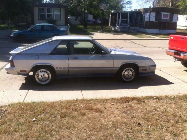 Dodge Charger Shelby Hatchback Door L Silver And Blue All Original on 1984 Dodge Dakota