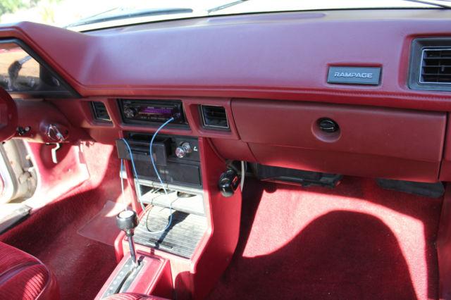 1984 Dodge Rampage Prospector Unibody Pick Up Very Rare