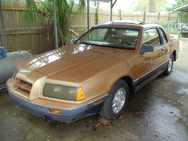 1984 ford thunderbird turbo coupe 2 owner rare color desert tan metallic charco for sale photos technical specifications description classiccardb com