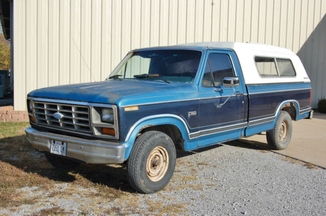 1984 ford truck f150 v8 automatic overdrive w ranch fiberglass topper runs for sale in anna. Black Bedroom Furniture Sets. Home Design Ideas