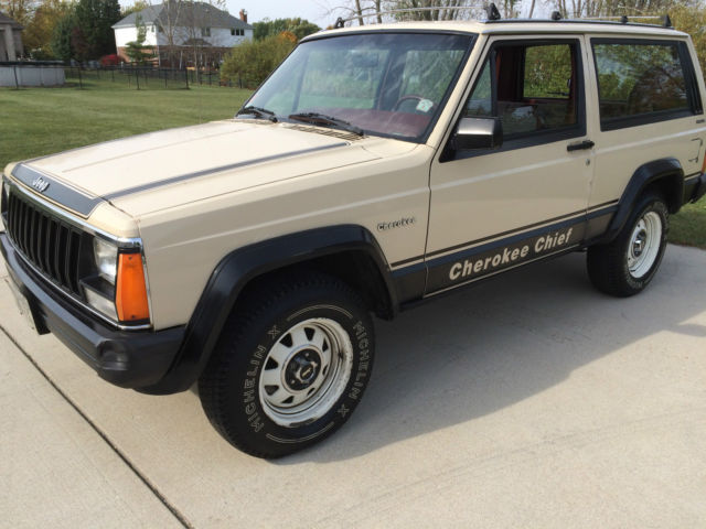 1984 Jeep Cherokee Chief 2 Door 2 5 Liter 4wd 37 800
