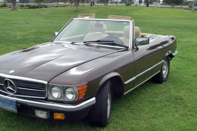 1984 mercedes benz 280sl convertible hard top european for for Mercedes benz san diego