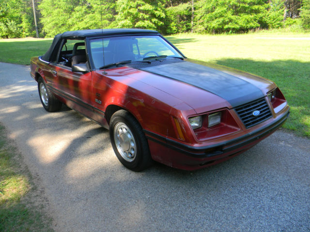 1984 mustang gt convertible 5 0 foxbody fox body for sale in jackson georgia united states. Black Bedroom Furniture Sets. Home Design Ideas