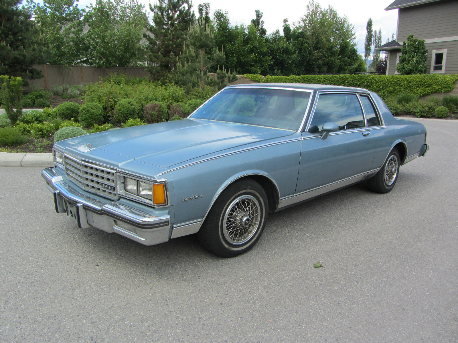 1985 chevrolet caprice 2 door landau coupe with low miles for sale in kelowna british columbia canada for sale photos technical specifications description classiccardb com