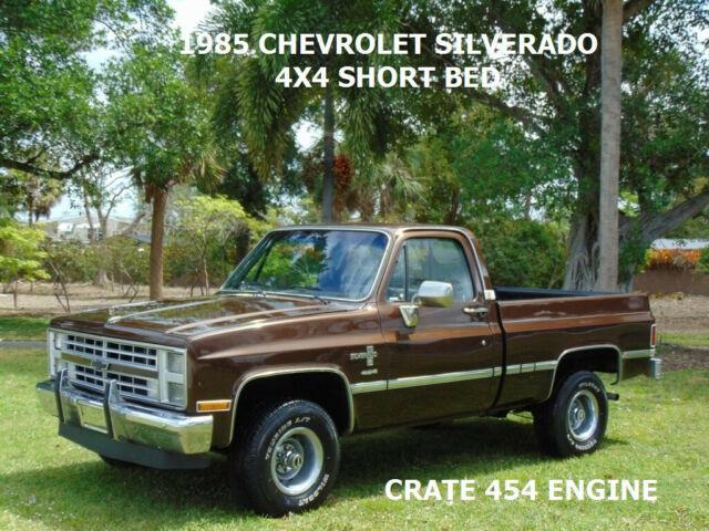 1985 CHEVROLET C/K 1500 SILVERADO 4X4 SHORT BED 454 CRATE