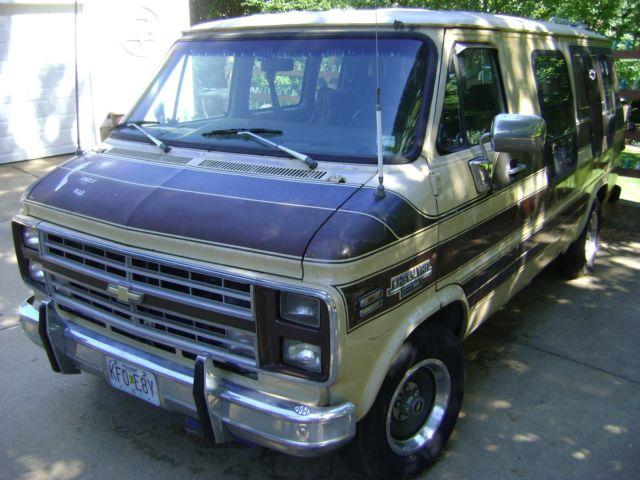 1985 Chevrolet G20 Conversion Van Lots Of Extra 70s