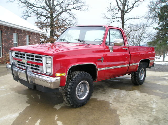 1985 chevrolet k10 pickup truck 4x4 for sale in waldron arkansas united states. Black Bedroom Furniture Sets. Home Design Ideas
